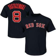 NWT Boston Red Sox YASTRZEMSKI Cooperstown name and number navy t shirt jersey