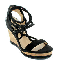GEOX repsira Peonia Wedge sandals Size 37 - 41 black Suede Court shoes NEW
