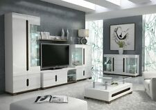 Berlin High Gloss White Sideboard Display Cabinet TV Stand Unit Lounge Furniture