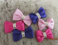 "Mo's USA Dog Bows -5/8"" tiny ties dog bows xxxs - Teacup Maltese Yorkie+"