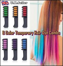 6 Colors High Quality Temporary Hair Dye Combs Hair Color Comb Hair Easy Carry