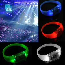 Button Activated Flashing Bracelet LED Bright Wristband  Hot 7 Colors bo