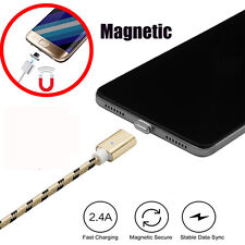 2.4A Braided USB2.0 Micro USB Rapid Charger Cable+Strong Magnetic Adapter Cord