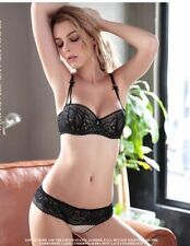 Women Lace Embroidery Plus Size Push Up Bra and Underwear Set GR310