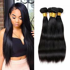 Brazilian Peruvian Virgin Human Hair Remy Straight Body Wave Hair Extensions 7A