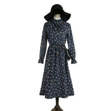 Autumn And Winter Fashion A Line Cotton Long-sleeve Cotton Dress For Women
