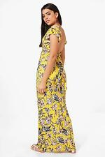 Boohoo Womens Georgia Frill Sleeve Backless Floral Maxi Dress