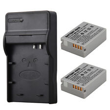 2X NB-10L 7.4V Rechargeable Battery + Charger for Canon G16 SX40HS SX50HS SX60HS