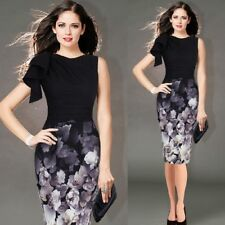 Fashion Ruffle Sleeve Ruched Casual Fitted Stretch Pencil Dress For Women EQ772