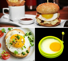 Kitchen Cooking Tool Silicone Fried Oven Poacher Pancake Egg Poach Ring Mould