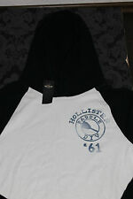 Hollister Men's Sweater SUP stood up paddle Hoodie With Hoodie White Blue L, XL