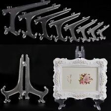 US White Display Easel Stand Plate Bowl Picture Frame Photo Pedestal Holder 1pcs