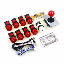 9 x Happ Type Arcade Button + USB Encoder + 5Pin Arcade Fighting Stick MAME Game