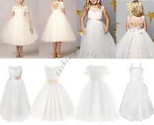 Girls Communion Party Prom Princess Pageant Bridesmaid Wedding Flower Tutu Dress