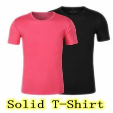Outdoor Womens Quick-Drying T-Shirt Mens Sport Solid Elasticity Short Sleeves