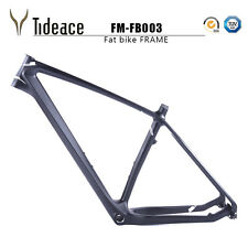 26er Carbon Snow Bicycle Frames 16/18/20'' Full Carbon Fat Bike Frameset Disc