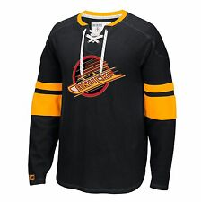 Vancouver Canucks CCM Retro Long Sleeve Jersey Crew