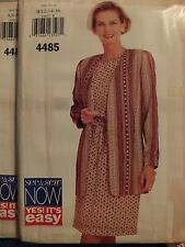 Easy 96 BUTTERICK 4485 MS Jacket Top & Skirt PATTERN 6-8-10/12-14-16/18-20-22 UC