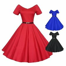 Rockabilly Vintage Swing Work Evening Dress 40s 50s Retro Emo Pin Up Cocktail