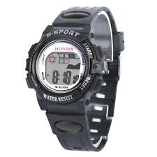 Waterproof Luminous Kids Boys Digital LED Sports Mens Watches Alarm Date Watch