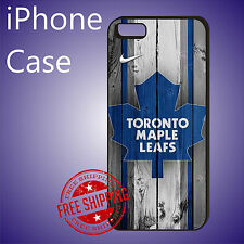 ED# NHL Toronto Maple Leafs Hockey Case Cover iPhone 8 8+ 7+ 7 6s+ 6+ se 5c 5s