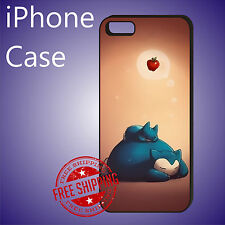 ED# Snorlax Pokemon Sweet Dreams Case Cover For iPhone 7+ 7 6s+ 6+ se 5c 5s