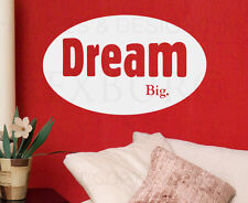 Wall Quote Decal Sticker Vinyl Art Lettering Graphic Adhesive Dream Big I40