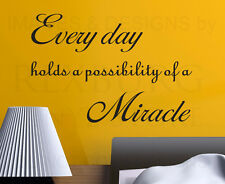Wall Decal Art Sticker Quote Vinyl Lettering Graphic Miracles God Religious R31