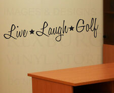 Wall Decal Quote Sticker Vinyl Art Lettering Removable Live Laugh Golf Funny J9