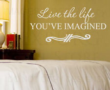 Wall Decal Sticker Quote Vinyl Art Lettering Live the Life You Imagined I67