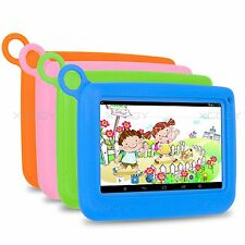 7'' inch Android 4.4 Quad Core 8GB HD WIFI Tablet PC W/ Gel Case Cover For Kids