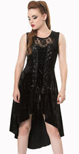 "Banned Apparel ""Goth Keeper"" Velvet Gothic Rock Corset Lace Black Party Dress"