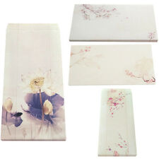 12 Pieces Envelopes Chinese Ink Painting Printed Invitation Gift Feature Writing
