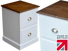 White Filing Cabinet, Painted Solid Wood Home Office 2 Drawer A4 Filing Unit