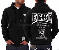 Ecko Mens Boys Black Pomonda New York LA Milan London Hip Hop Star Zip Up Hoodie