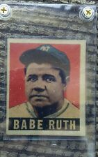 1949. Babe Ruth. Leaf Gum.RARE OLDTIME. Not Common Aged. Reprint