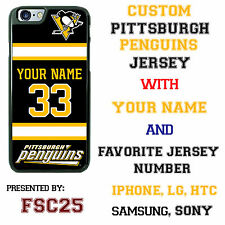 Custom PITTSBURGH PENGUINS Hockey Jersey phone Case Cover for iPhone 6 PLUS 5 4