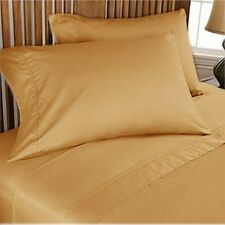 1200Thread Count Egyptian Cotton Gold Solid All Bedding Items US Size