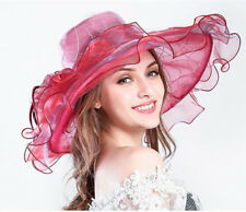 Kentucky Derby Party Hats Church Wide Brim Organza Floppy Wedding Tea Party Hat