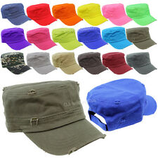 Plain Vintage Military Hat Army Cadet Patrol Castro Cap Golf Driving Unisex Hats