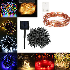 20-500 LED Battery/Solar Powered Outdoor Fairy String Light Wedding Garden Decor