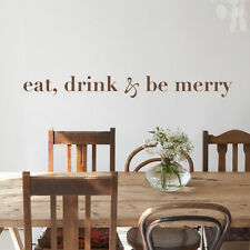 Eat Drink Be Merry Wall Sticker Kitchen Inspired Quote Vinyl Removable Art Decor