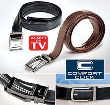 NEW COMFORT CLICK Leather Belt for Men Black or Brown As Seen on TV fashion/