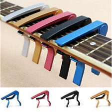 Classic Guitar For Acoustic Electric Silver Quick Change Clamp Key Capo Clamp