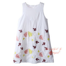 Toddler Girl Floral Embroidered Dress Sleeveless Cotton Princess Party Sundress