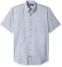 Nautica Men's Big and Tall Short Sleeve Plaid Oxford Button Down Shirt