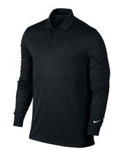 NIKE VICOTRY LONG SLEEVE POLO SHIRT DRI FIT COLLAR GYM SPORT FIT COMFORT MEN'S