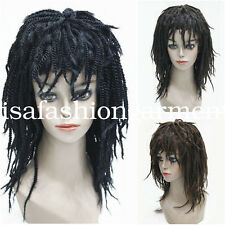 women Curls Hair Hand Braided wig Kinky Twist Dreadlock fancy dress cosplay wig