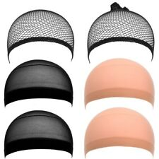 eBoot Nylon and Mesh Wig Cap, Neutral Nude Beige and Black, 6 Pieces. Free Shipp