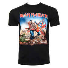 Official T Shirt IRON MAIDEN Black TROOPER Logo Print Band Tee All Sizes